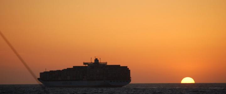 Sampling container ship emissions during CalNex